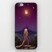 tangled iPhone & iPod Skins featuring Tangled by Westling