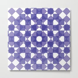Pretty Purple Mirror Work Metal Print