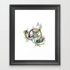 a good place for sincere thought Framed Art Print