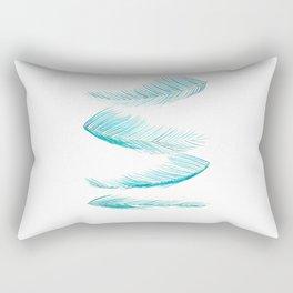 falling palm leaves watercolor Rectangular Pillow