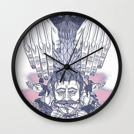 Flap Your Hands Wall Clock