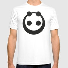A Most Minimalist Panda  SMALL Mens Fitted Tee White