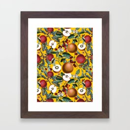 Vintage Fruit Pattern V Framed Art Print