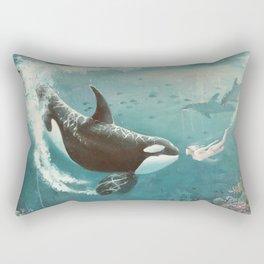 Underwater Love at First Sight Rectangular Pillow