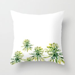 Euphorbia II Throw Pillow