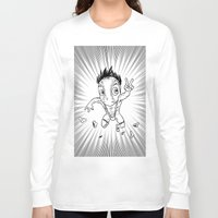 hentai Long Sleeve T-shirts featuring KWeb #6 : Hentai Kamen (black & white) by Adrien ADN Noterdaem