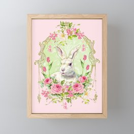 Spring Bunny Framed Mini Art Print