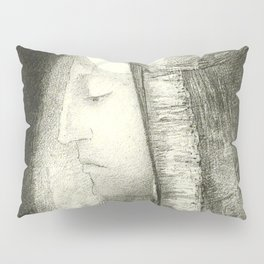 "Odilon Redon ""Profile of Light (Profil de lumière)"" Pillow Sham"