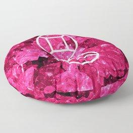 Garnet Candy Gem Floor Pillow