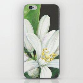 Watercolor Orange Blossom iPhone Skin