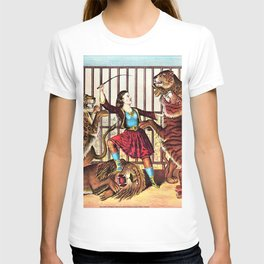 1874 Circus Show 'The Lion Queen' Lion Tamer Vintage Poster T-shirt