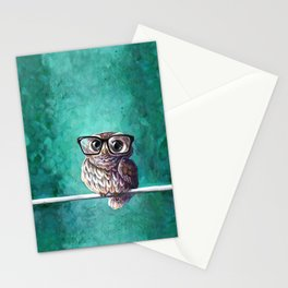 Intellectual Owl Stationery Cards
