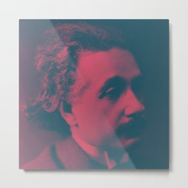 Pop Einstein Metal Print