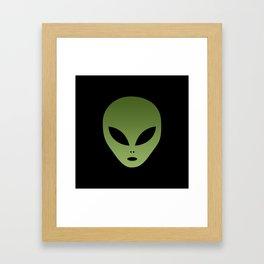 Extraterrestrial Alien Face Framed Art Print