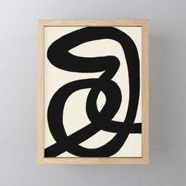 Modern Minimal Abstract #7 Framed Mini Art Print