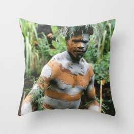 Papua New Guinea Villager Throw Pillow