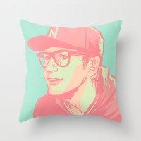 bubblegum Throw Pillows featuring Bubblegum by Rosketch
