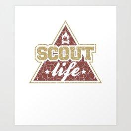Scout Life - Girl & Boy Scout Art Print