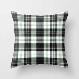 Rustic Plaid Pattern: Green Throw Pillow