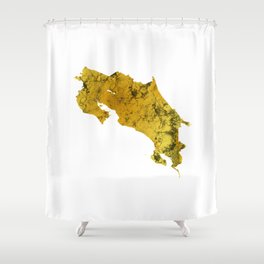 Costa Rica | Pura Vida | Gold Shower Curtain