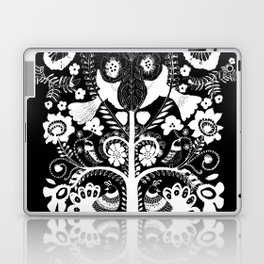 kalamkari black Laptop & iPad Skin