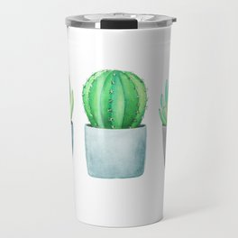 Succulent and Cacti Potted Garden Trio Travel Mug