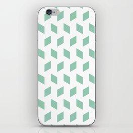 rhombus bomb in grayed jade iPhone Skin