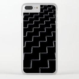 ZigZags Dark Clear iPhone Case