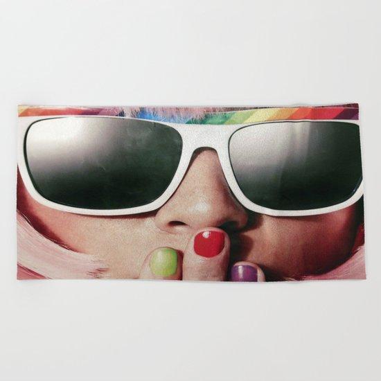 Carnaval girl Beach Towel