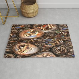 Screwed over Cats eyes Rug