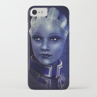 mass effect iPhone & iPod Cases featuring Mass Effect: Liara T'soni by Ruthie Hammerschlag