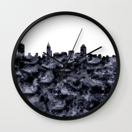 Raleigh Skyline North Carolina Wall Clock