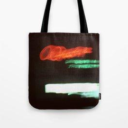 Night Lights Orange Drive-in Tote Bag