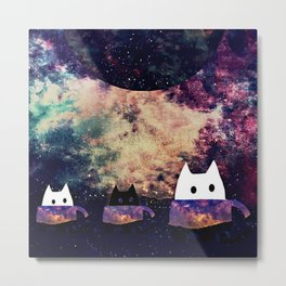 cats galaxy 262 Metal Print