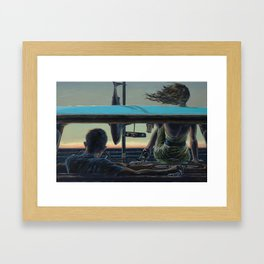 There We Were, All Over the News Framed Art Print