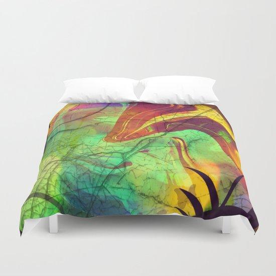 Opalescent Alien View Duvet Cover