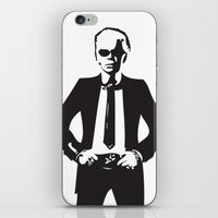 karl lagerfeld iPhone & iPod Skins featuring Karl Lagerfeld by Joanna Theresa Heart