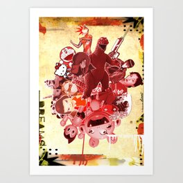 COLLAGE: Japan Culture Art Print