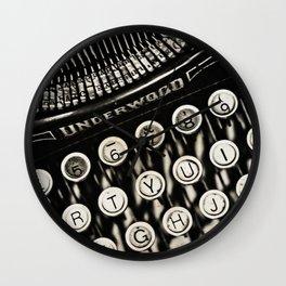 Underwood  typewriter Wall Clock