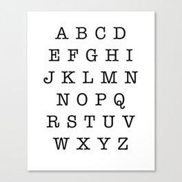 Type Alphabet Uppercase Sign Canvas Print
