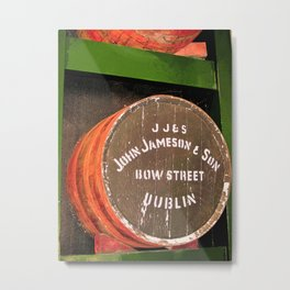 Jameson whiskey - Jameson Irish whiskey wooden barrel face photography Metal Print