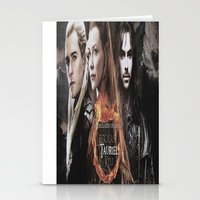 legolas Stationery Cards featuring kili,legolas,tauriel,the hobbit,lord of the rings by ira gora