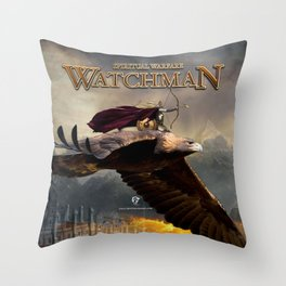 WATCHMAN SPIRITUAL WARFARE Throw Pillow