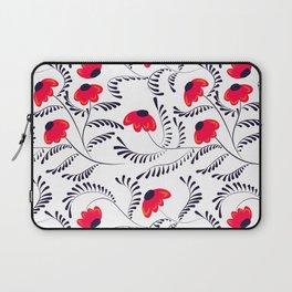 Beauty simple seamless floral pattern swirl Laptop Sleeve