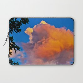 Puffy Orange and Pink Clouds Laptop Sleeve