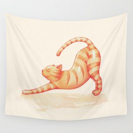 Yoga Cat Wall Tapestry