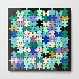 Colorful Jigsaw Puzzle Metal Print