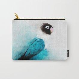 Masked Lovebird, Black-masked Lovebird, Collared Lovebird (Agapornis personatus)  Blue Parrot Bird Carry-All Pouch