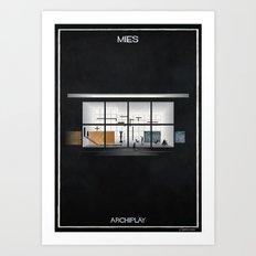 07_ARCHIPLAY_mies van der rohe Art Print