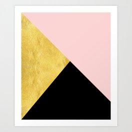 Color Bloc Triangles Art Print